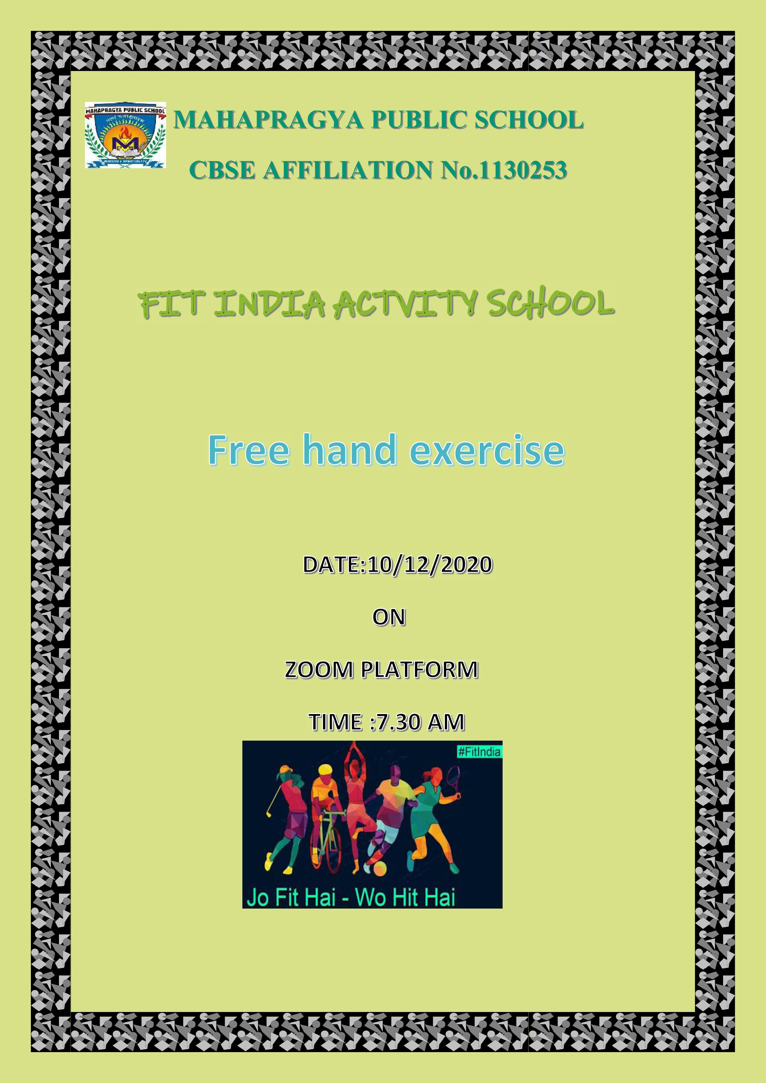 Fit India – Free hand Exercise